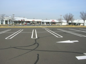 Severely underutilized space, a product of the 1950's culture of suburbanization